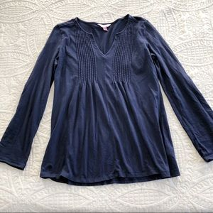 Lilly Pulitzer Navy Blue Long Sleeve Top - size SM